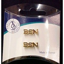 BSN  Lapel Pin Tacs Bachelor of Science Nurse Gold Set of 2 Gold Plate Cap Pins