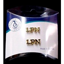 LPN Pin Tacs Set of 2 Licensed Practical Nurse Gold Plated Graduation