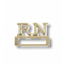 RN Registered Nurse ID Badge Holder Pin Tac Medical Professionals Gold Plated