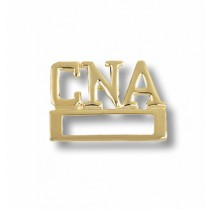 CNA Certified Nurses Aide Medical ID Badge Tac Holder Gold Plated