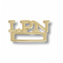 LPN Licensed Practical Nurse Medical ID Badge Holder Pin Tac Gold Plated