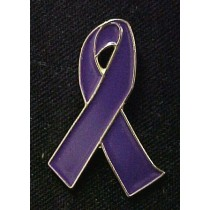Alzheimer's Awareness Lapel Pin Month November Memory Walk Purple Ribbon Cap Tac