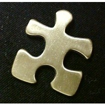 Autism Asperger Lapel Pin Antiqued Brass Puzzle Piece Awareness Cap Tac