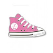 Breast Cancer Awareness Pink Ribbon High Top Tennis Shoe Sneaker Lapel Pin
