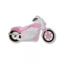 Breast Cancer Awareness Pink Ribbon Motorcycle Biker Charity Ride Pin Tac