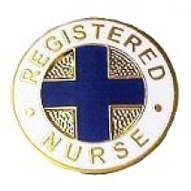 RN Registered Nurse Lapel Pin Blue Cross Professional Insignia Emblem Graduation 808N