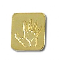 Pro Life Lapel Pin Awareness Fetal Baby Hand Print Promotional Support Gold Plated Cap Tac