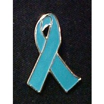 Teal Ribbon Lapel Pin Ovarian Cancer Awareness Lapel Pin Fund Raising Cap Tac