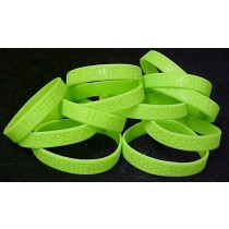 Sandhoff Disease Awareness Support Silicone Bracelets Lime Green 12 Piece Lot