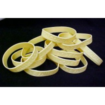 Lung Cancer Awareness Fund Raising Bracelets Pearl Cream Silicone 12 Piece Lot
