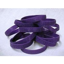 Pancreatic Cancer Awareness Purple Bracelets Silicone 50 Piece Lot