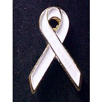 White Ribbon Lapel Pin Tac Postpartum Depression Awareness Month is October