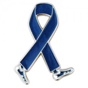 Child Abuse Pin Awareness Month April Blue Silver Ribbon with Lettering New